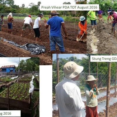 Training of Trainers in Preah Vihear on agricultural practices
