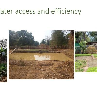 Water access and efficiency: examTraining of Trainers in Preah Vihear on agricultural practicesples for water storage and distribution