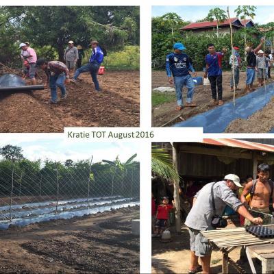 Подготовка тренеров в Кратьэх по применению агротехнических приемов