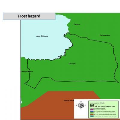 Hazard map - Frosts