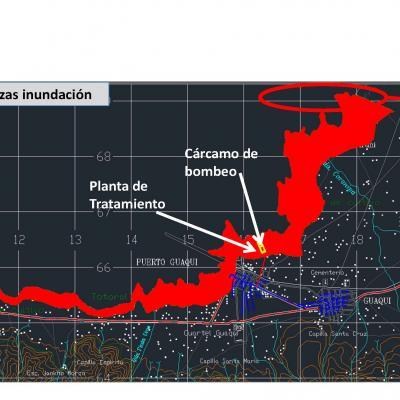 Componentes y mapa inundaciones